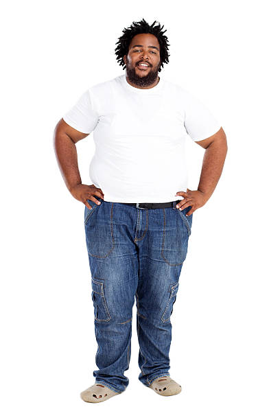 african american man - overweight stock pictures, royalty-free photos & images