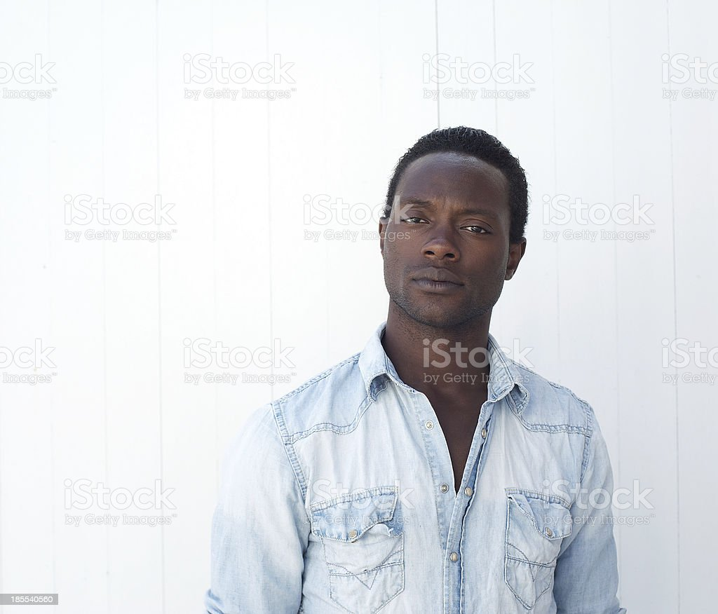 African american man posing against white background royalty-free stock photo