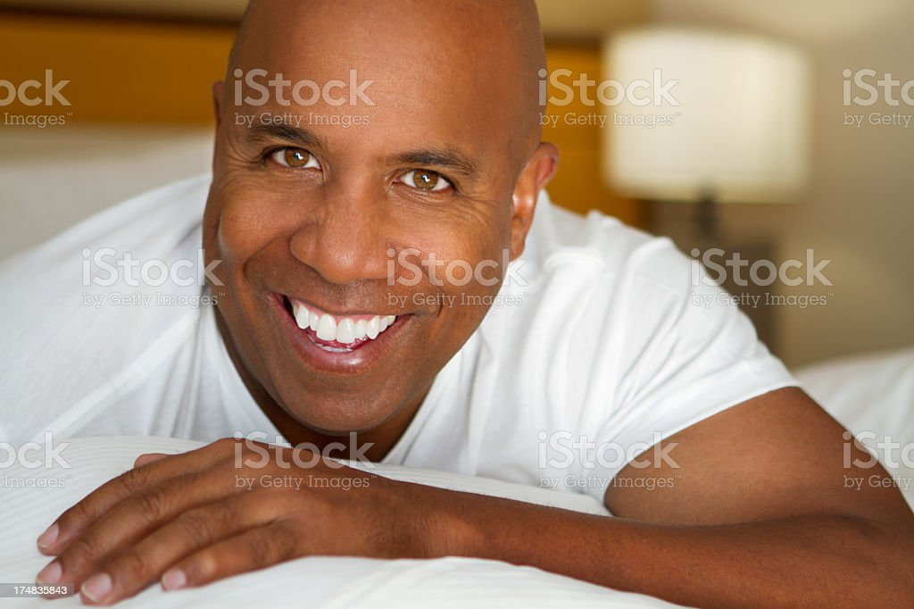 African American Man Smiling royalty-free stock photo