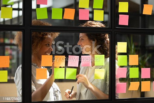 1144569896 istock photo African american manager discussing project details with skilled scrum master. 1193725607