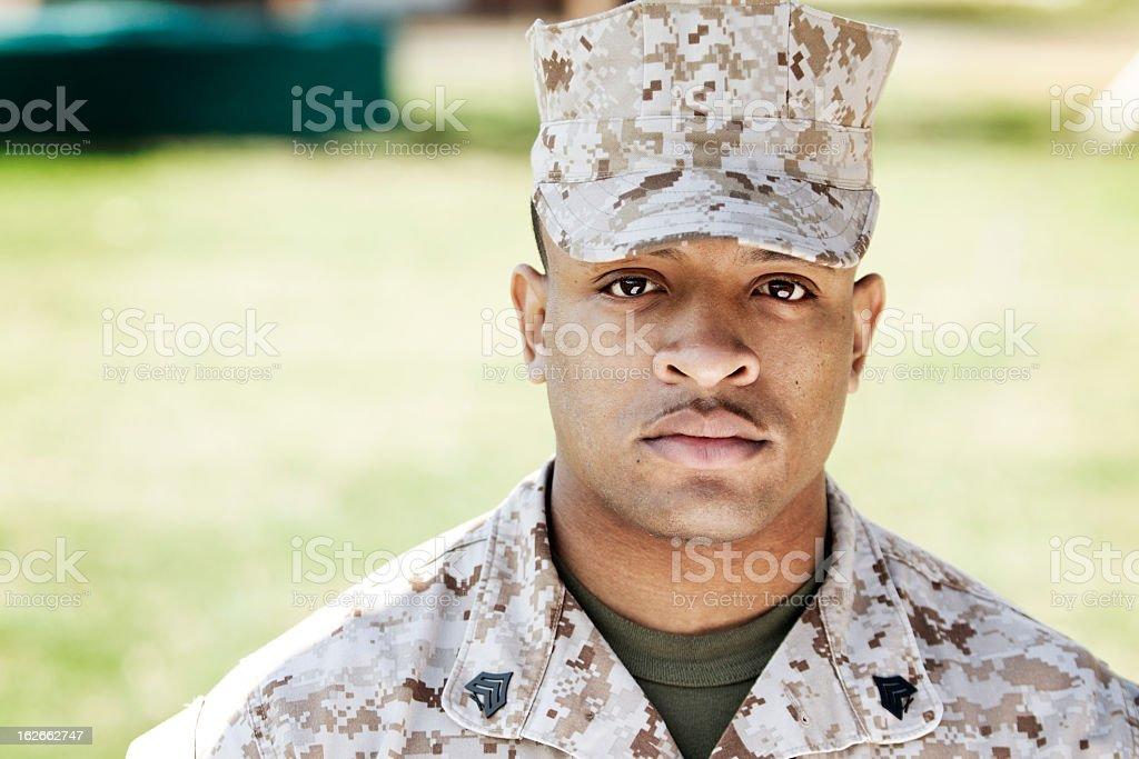 African American Marine royalty-free stock photo