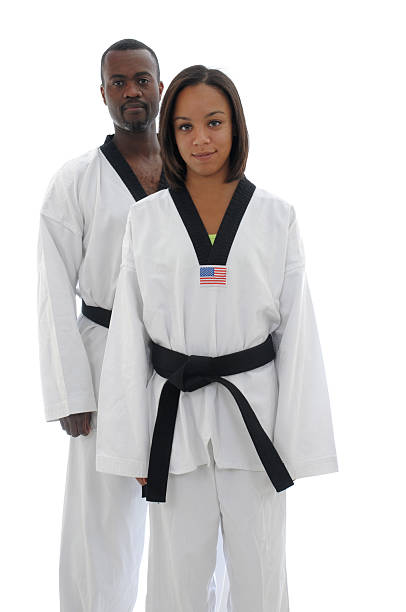 African American martial artists stock photo