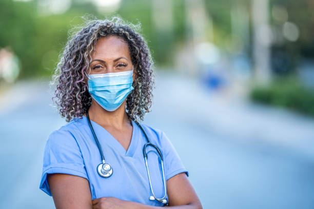 African American medical professional stock photo