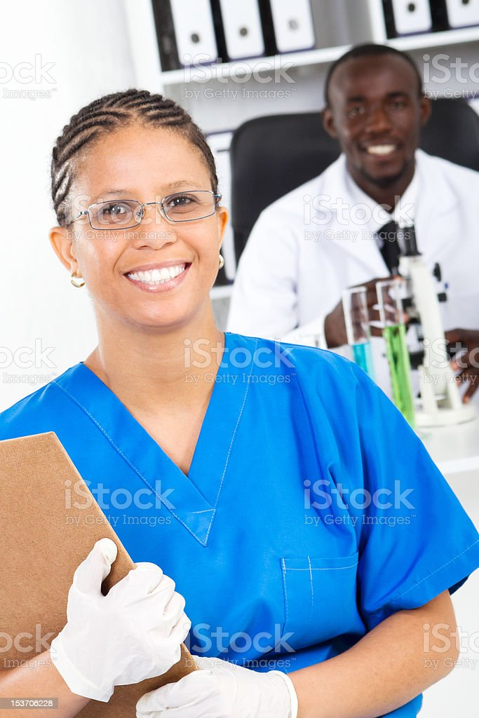 african american medical researchers royalty-free stock photo