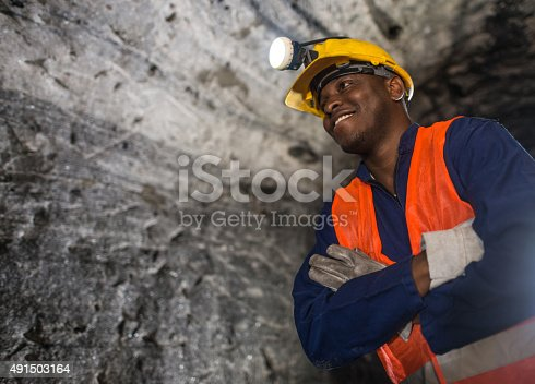 508140747 istock photo African American miner working at the mine 491503164