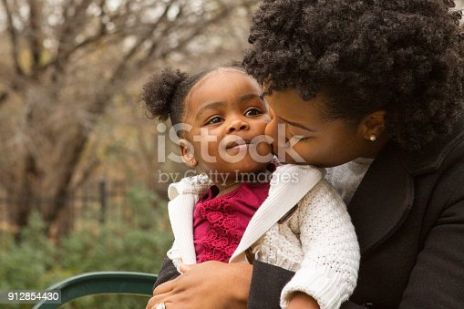 istock African American mother and her daugher. 912854430