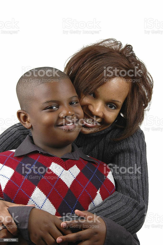 African american mother and son royalty-free stock photo