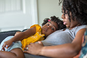 istock African American mother disciplining parenting her young child. 1181131881