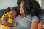 istock African American mother disciplining parenting her young child. 1183657596