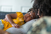 istock African American mother disciplining parenting her young child. 1183657707