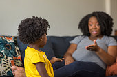 istock African American mother disciplining parenting her young child. 1189666884