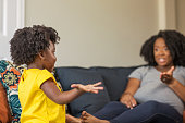 istock African American mother disciplining parenting her young child. 1189669863