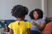 istock African American mother disciplining parenting her young child. 1197772977