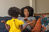 istock African American mother disciplining parenting her young child. 1200020971