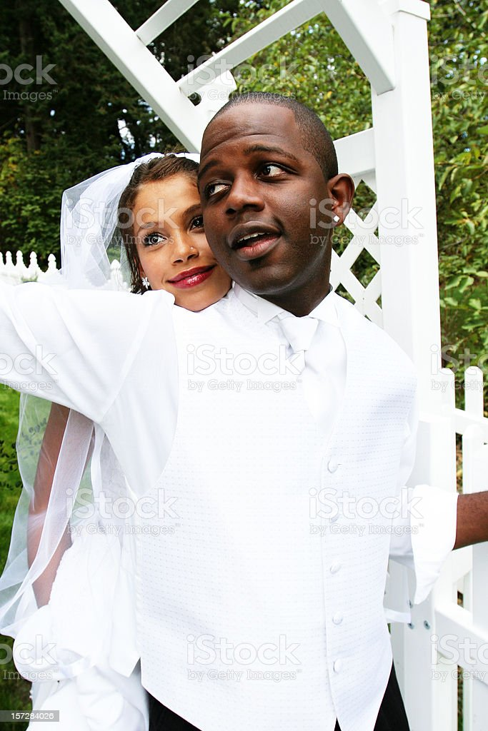 African American Newlyweds royalty-free stock photo
