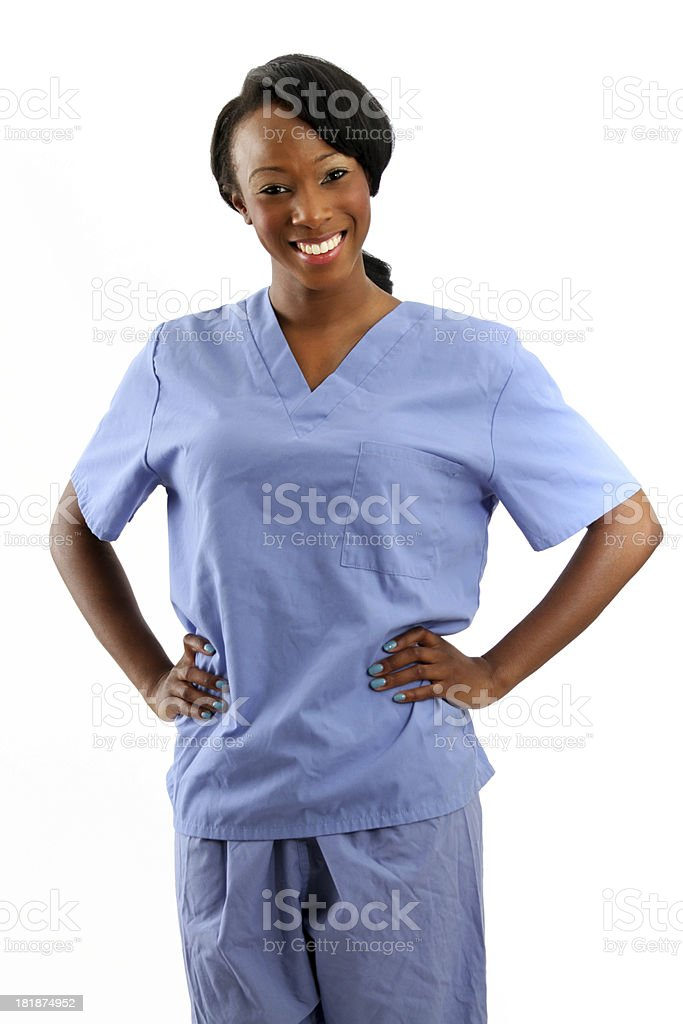African American Nurse smile stock photo