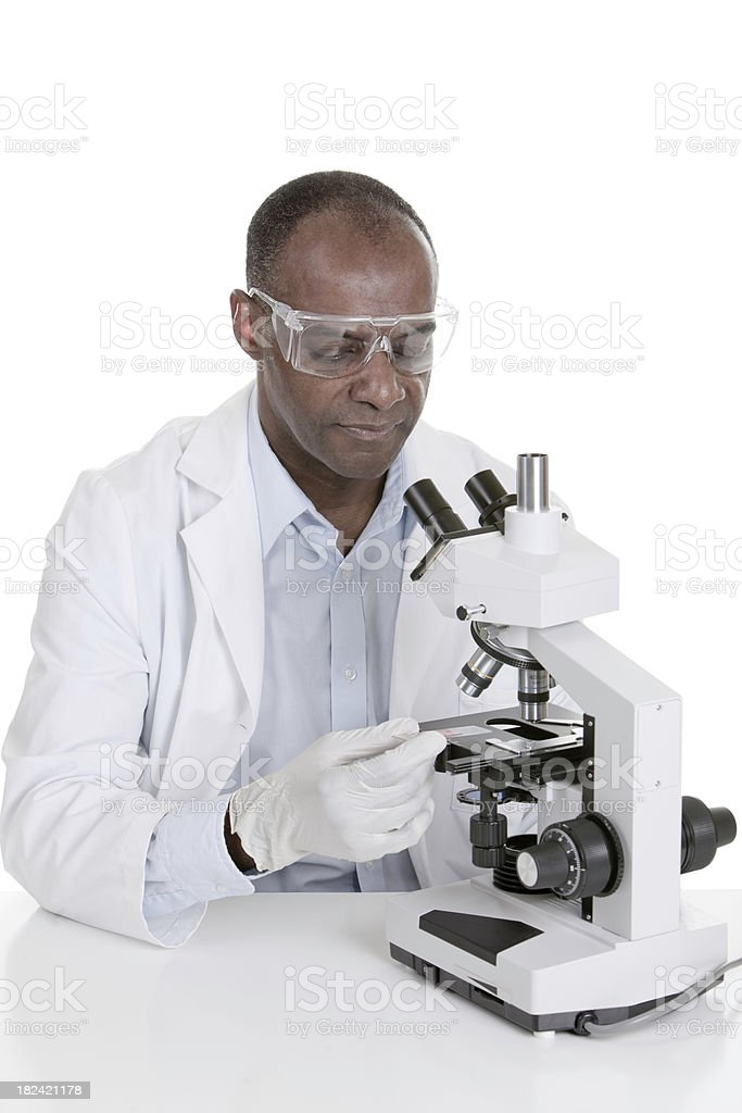 African American Pathologist royalty-free stock photo