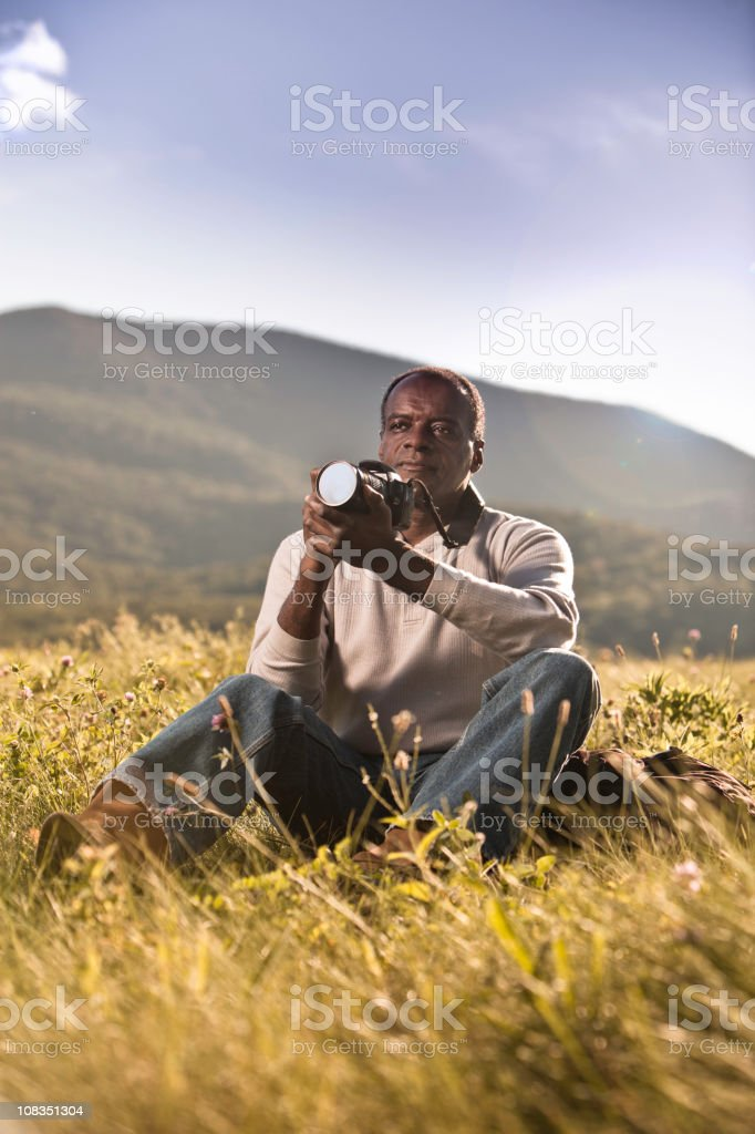 African American Photographer royalty-free stock photo