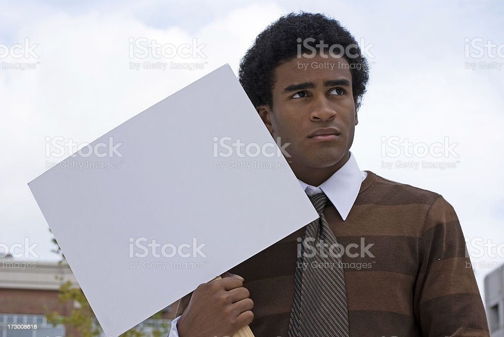 African American Pickteter - Up Close royalty-free stock photo