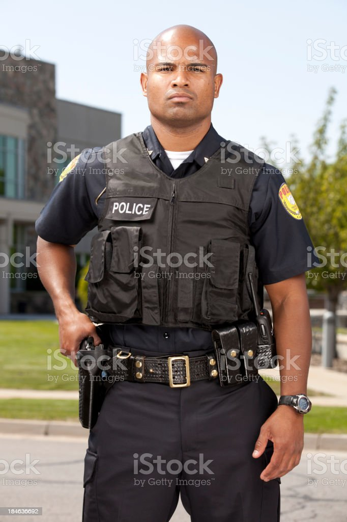 African American Police Officer royalty-free stock photo