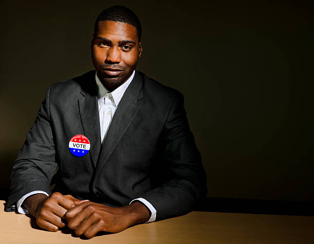 African American Politician stock photo