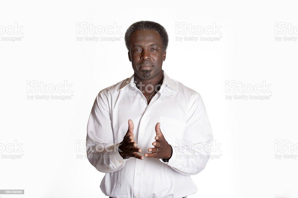 Retrato de hombre afroamericano refuerzo - foto de stock