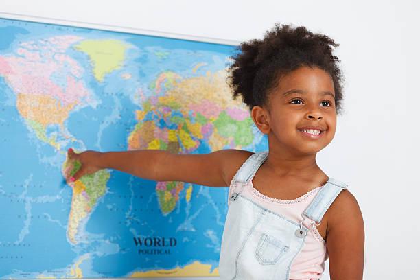 African american preschool girl – Foto