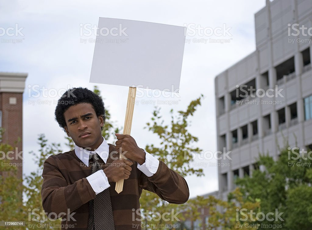 African American Protester royalty-free stock photo