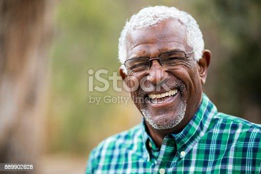 istock African American Senior Man in Nature Portrait 889902628