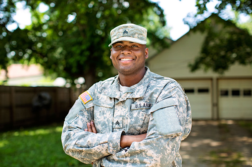 Stock image of a real member of the U.S. armed forces.