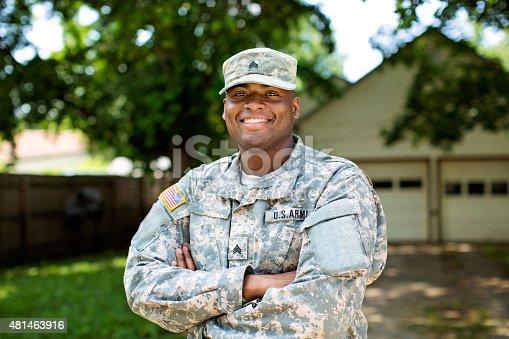 istock African American Sergeant U.S. Army 481463916