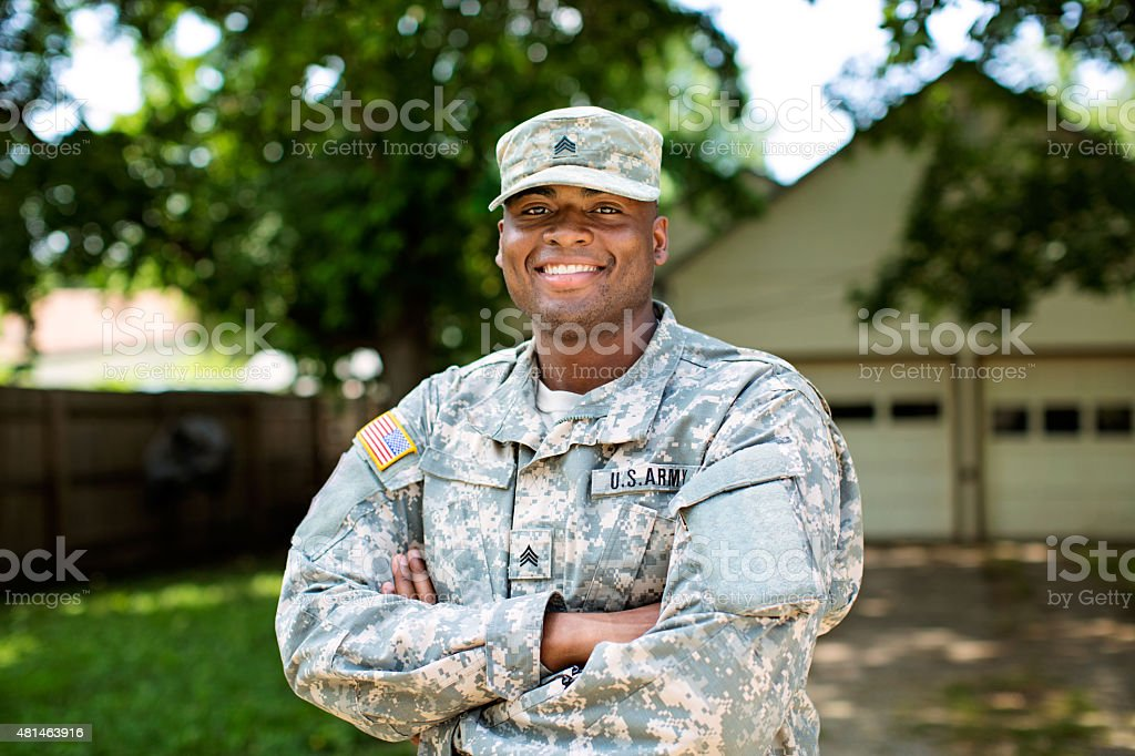 African American Sergeant U.S. Army stock photo