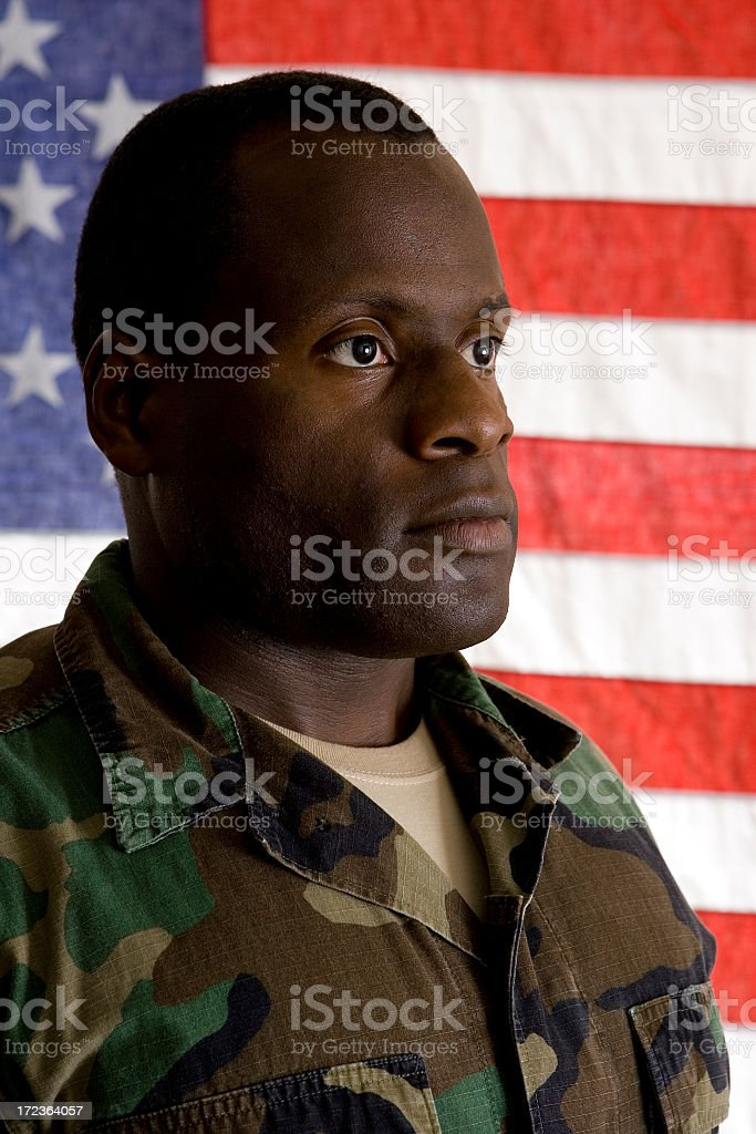 African American Soldier royalty-free stock photo