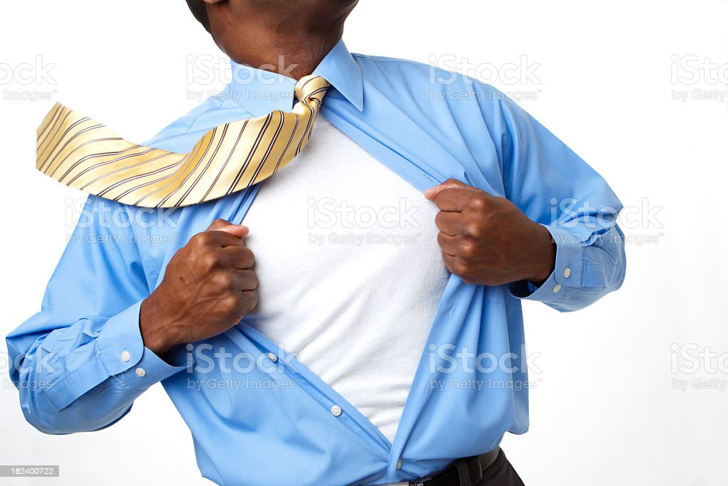 African American Superhero stock photo