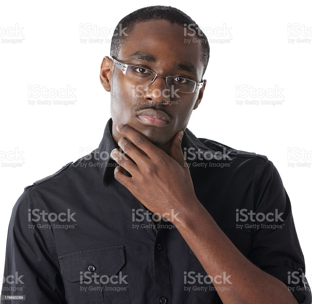 African American Teenager Thinking royalty-free stock photo
