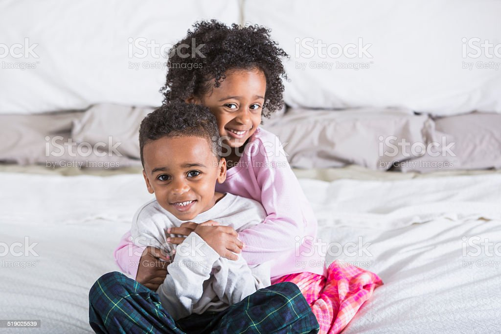 African American twins stock photo