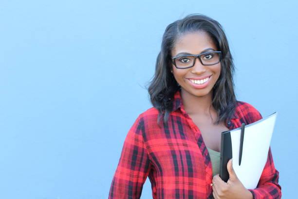 African american university student closeup stock photo