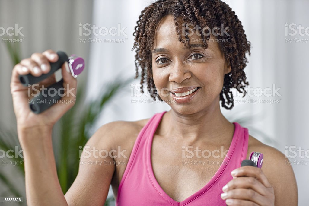 African American woman exercising. foto stock royalty-free