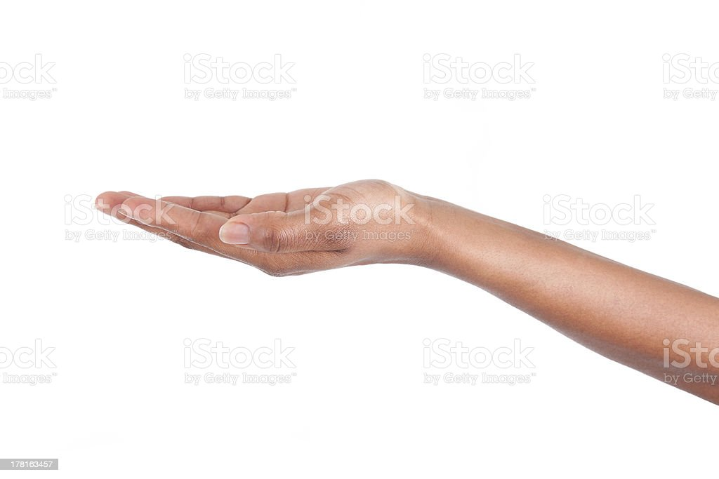 African American woman hand stock photo