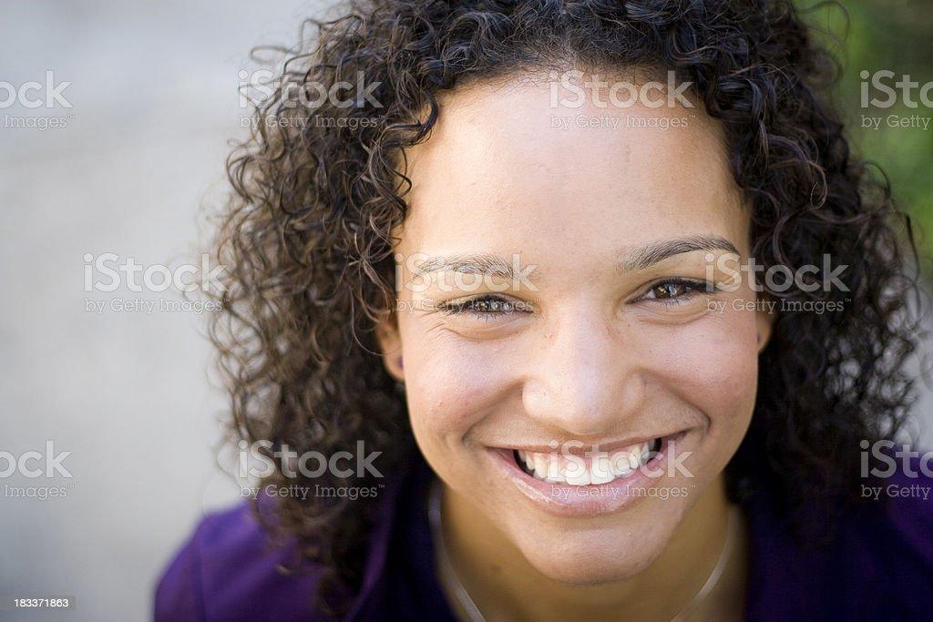African American Woman Headshot stock photo