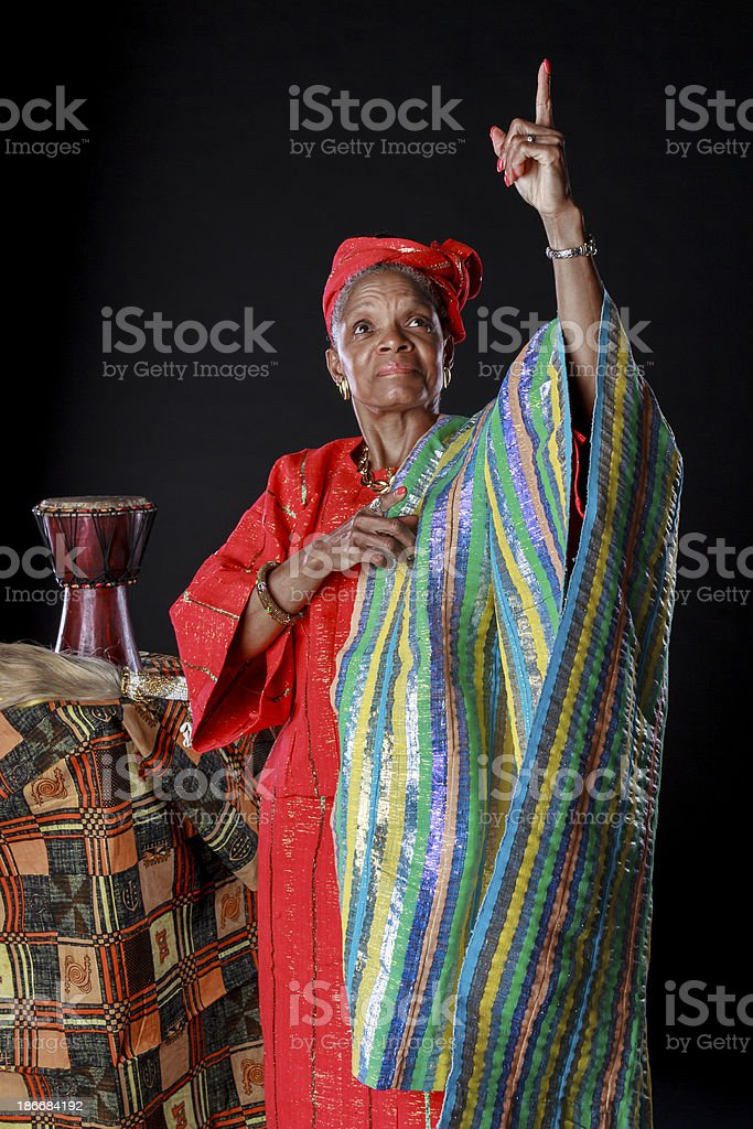 African American Woman In Colorful Attire royalty-free stock photo