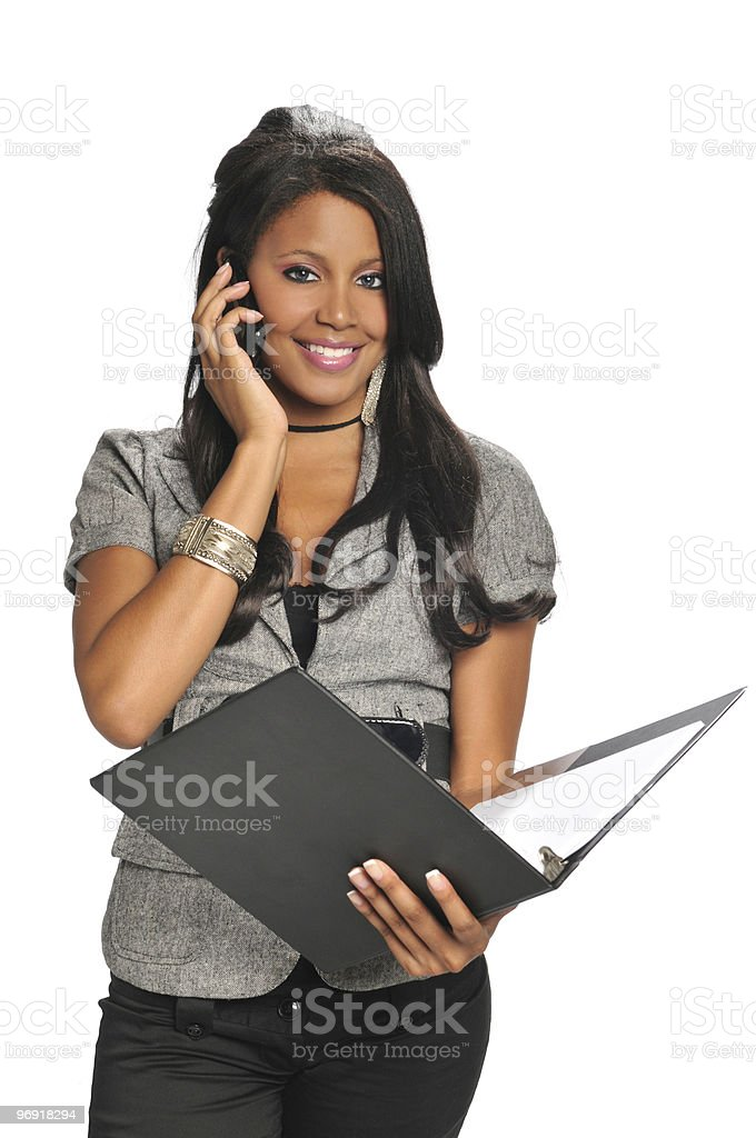 African American woman on the phone royalty-free stock photo