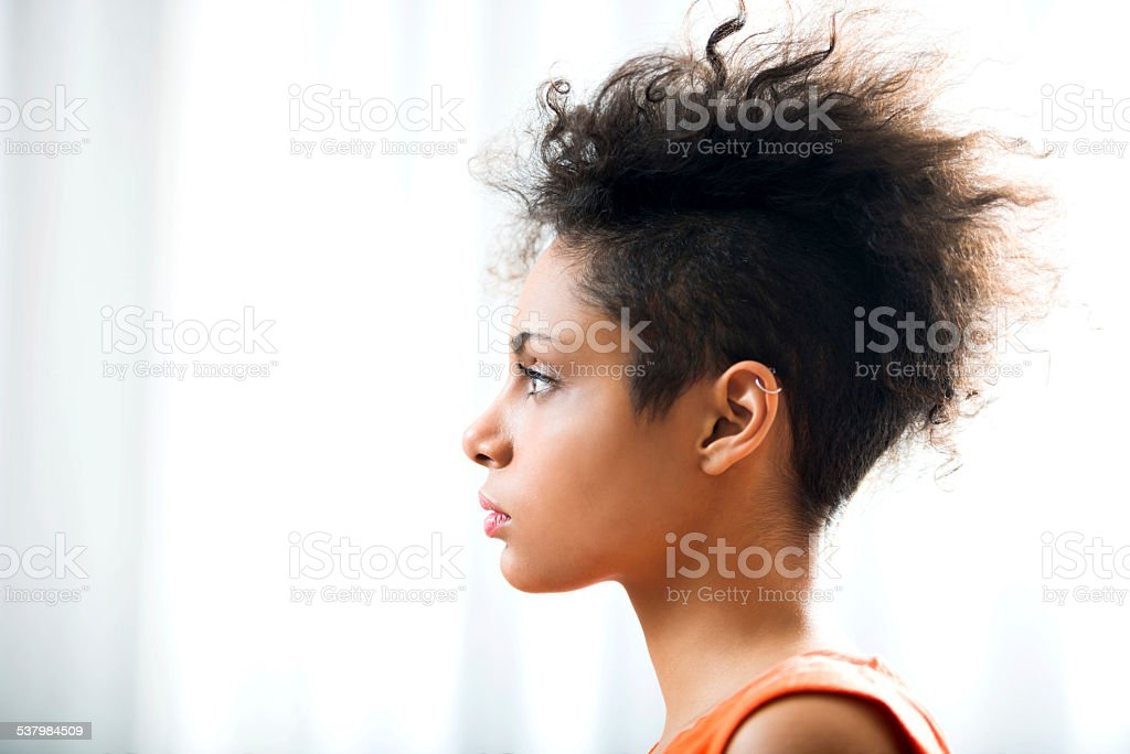 African American woman. stock photo