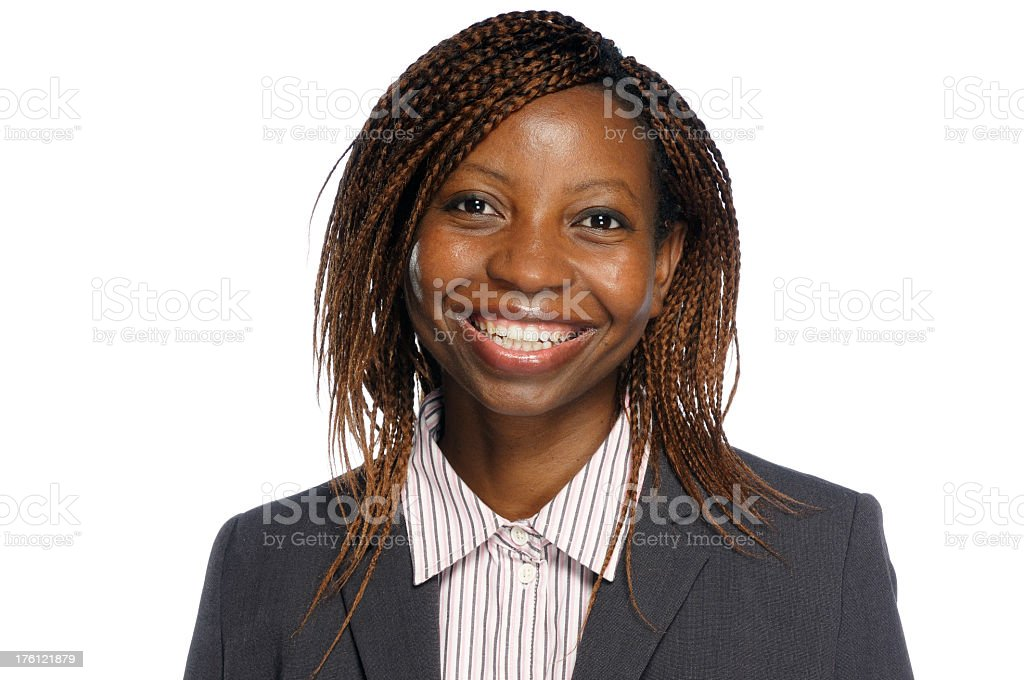 African American Woman Smiling to the Camera royalty-free stock photo