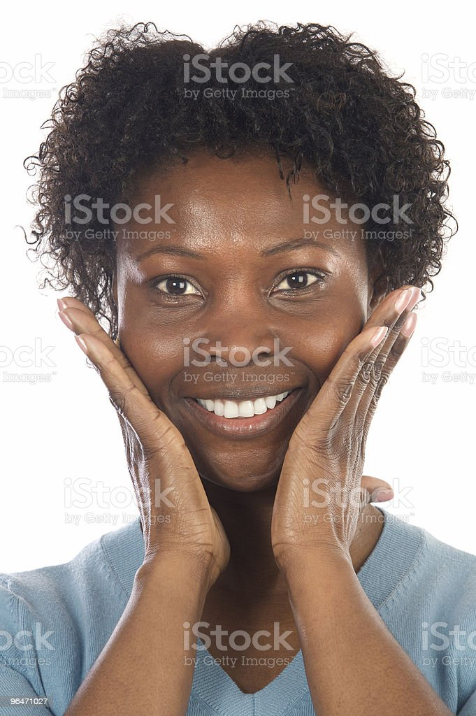 African American Woman Smilling royalty-free stock photo