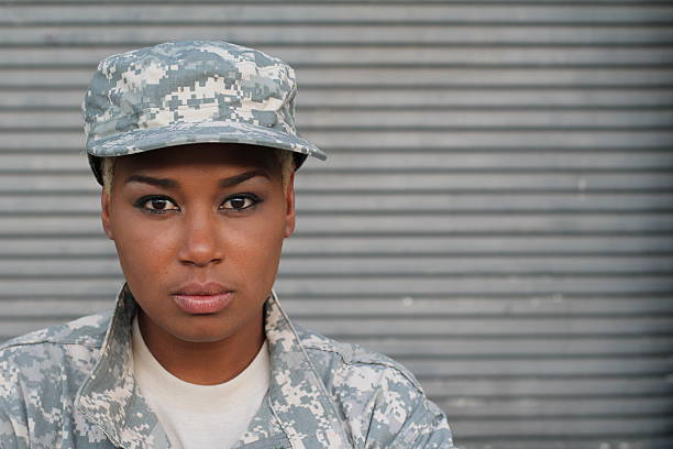 African American Woman Soldier Isolated African American Woman Soldier Isolated. mount combatant stock pictures, royalty-free photos & images