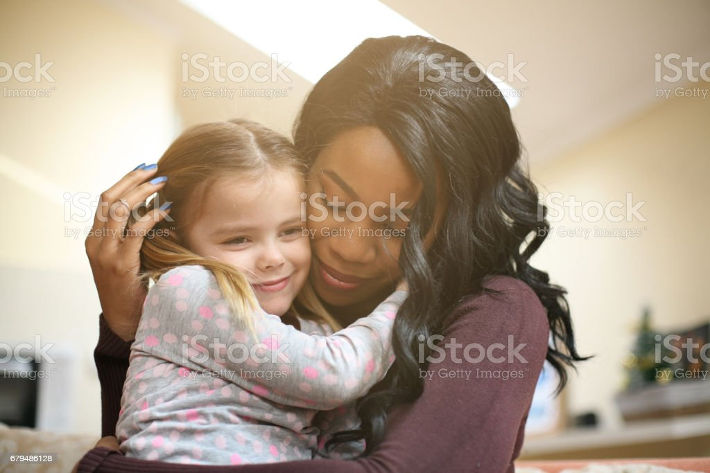 African American woman with child. stock photo