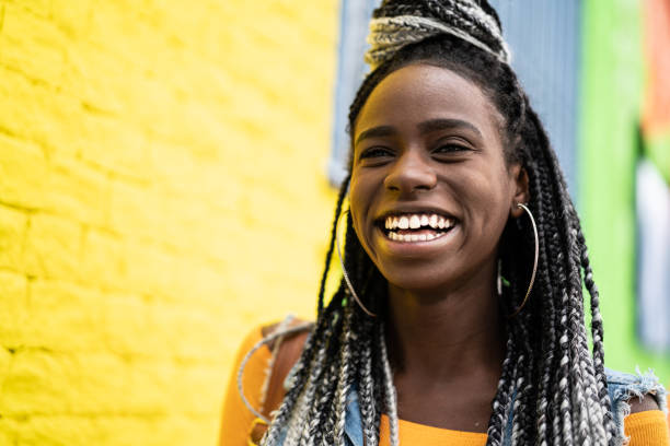 african american woman with dreadlocks portrait - caribbean culture stock pictures, royalty-free photos & images