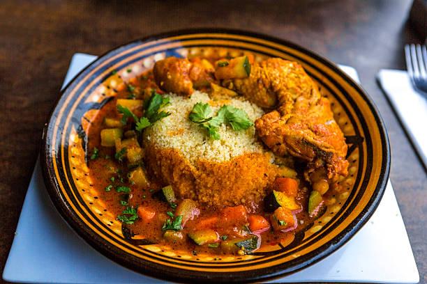 African Arab Tajine chicken dish in pot at lille france – Foto