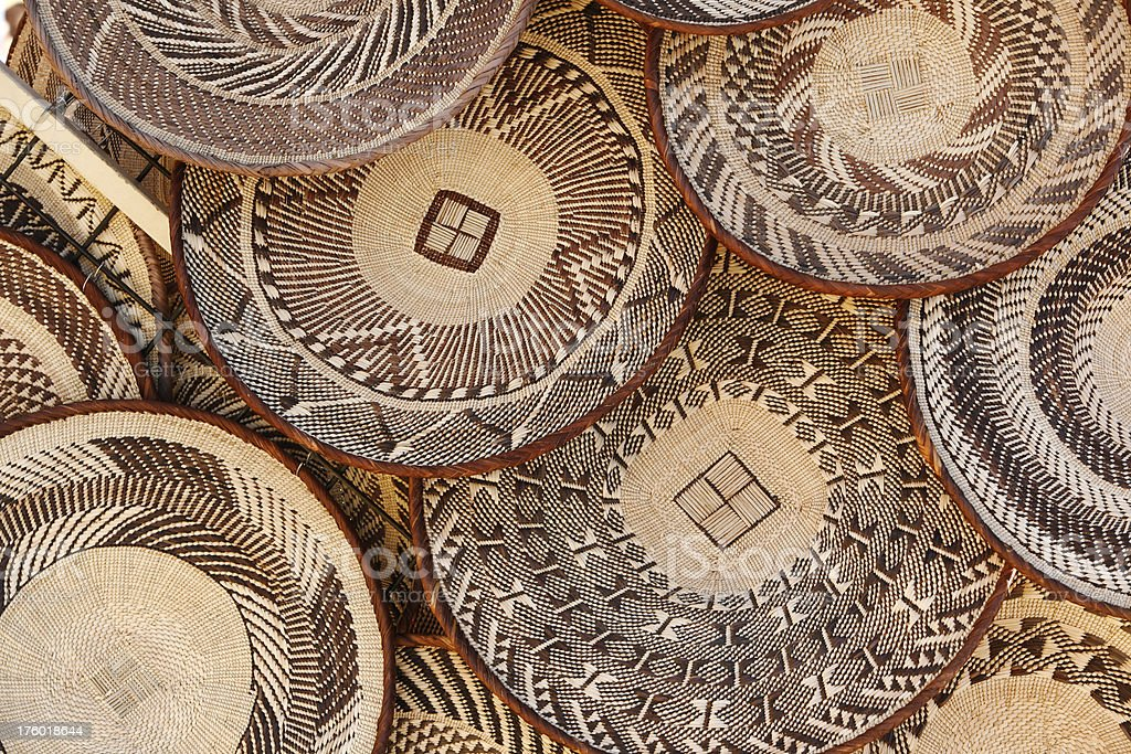 African baskets stock photo